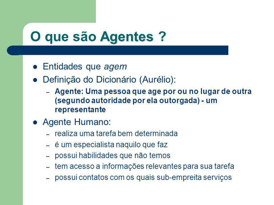 O que são Agentes Entidades que agem