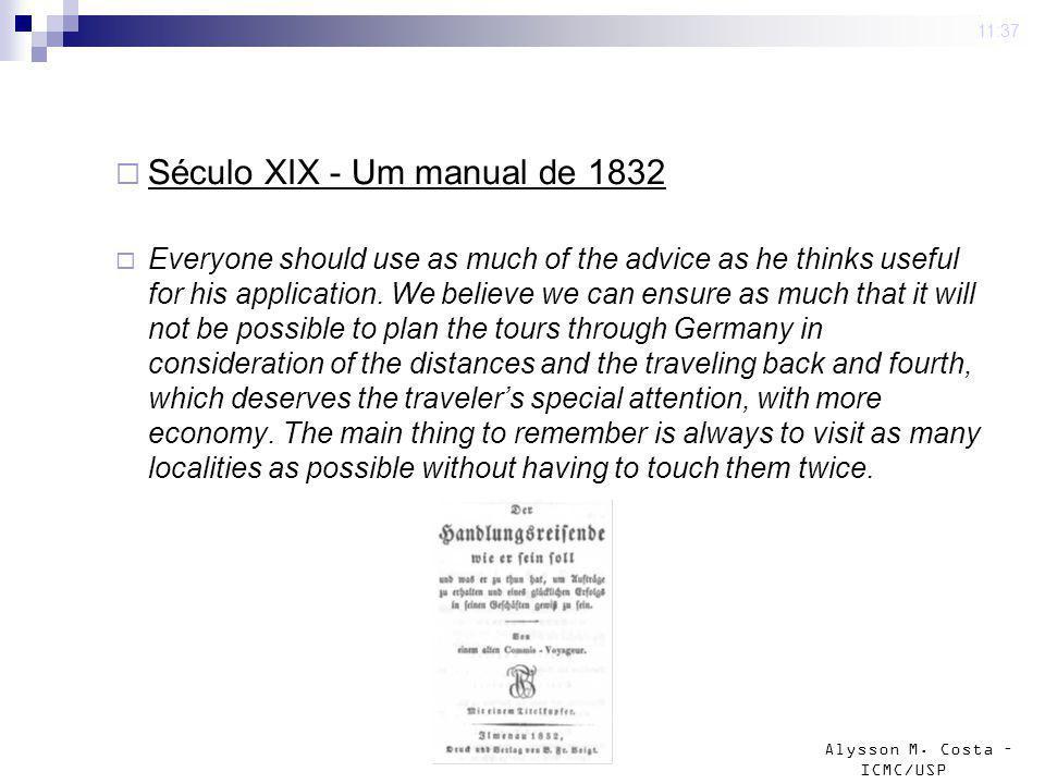Século XIX - Um manual de 1832