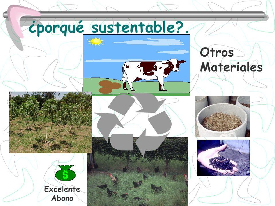 ¿porqué sustentable . Otros Materiales Excelente Abono