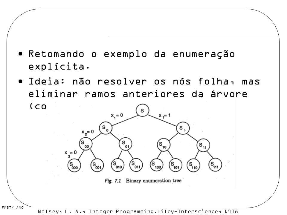 Retomando o exemplo da enumeração explícita.