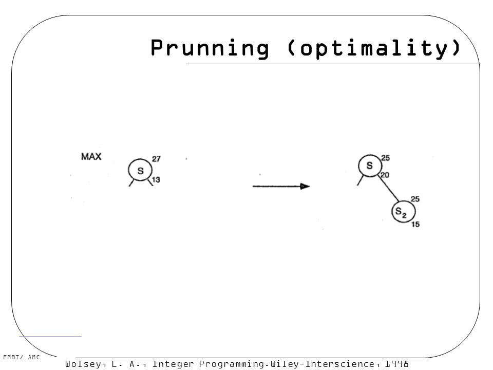 Prunning (optimality)