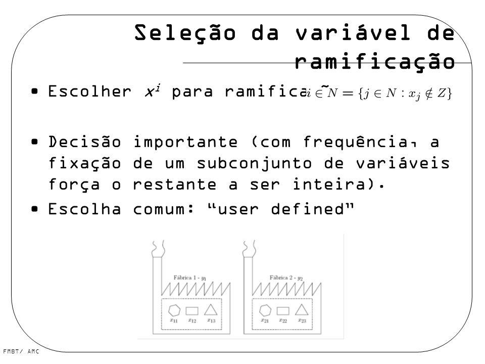 Seleção da variável de ramificação