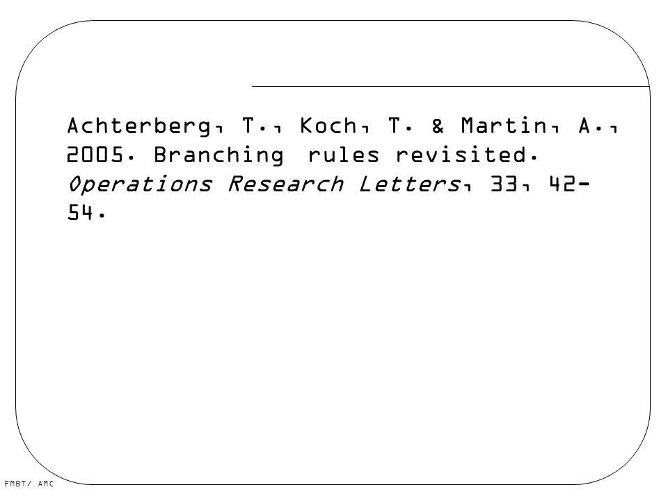 Achterberg, T. , Koch, T. & Martin, A. , 2005. Branching