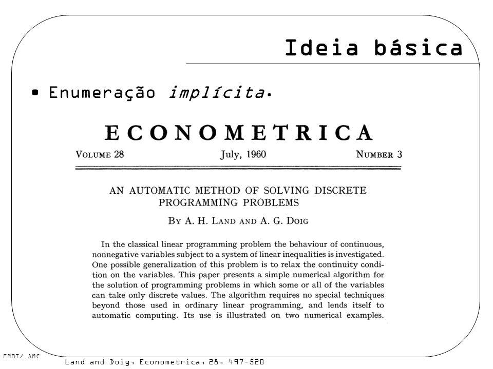 Ideia básica Enumeração implícita.