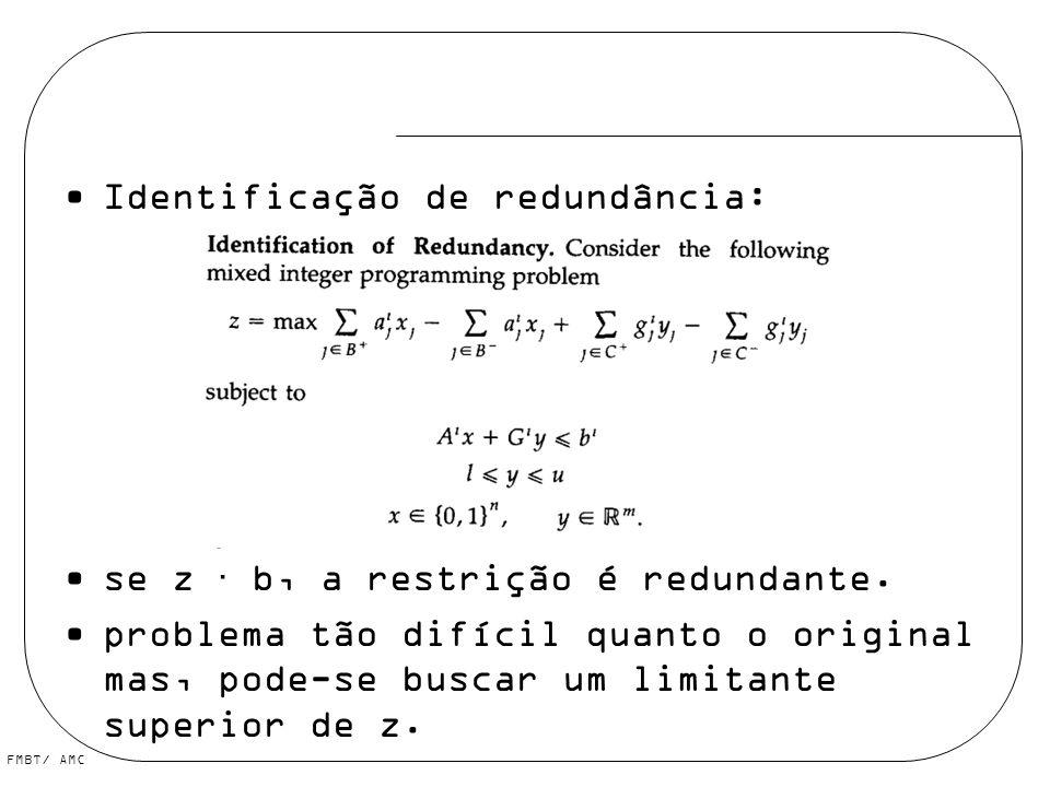 Identificação de redundância: