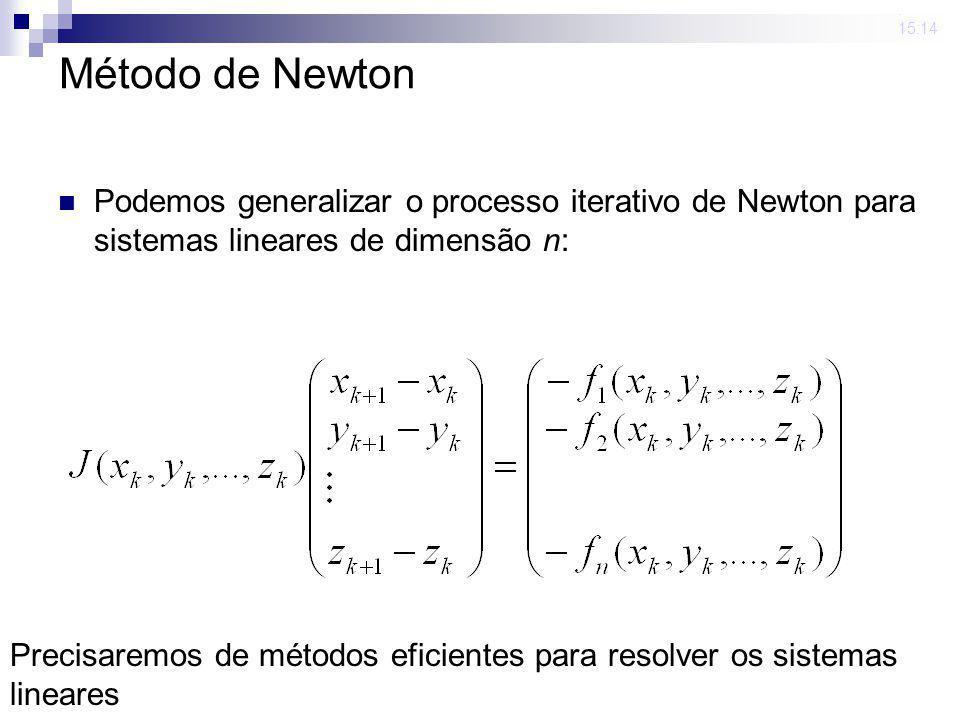 23 mar 2009 . 15:14 Método de Newton. Podemos generalizar o processo iterativo de Newton para sistemas lineares de dimensão n: