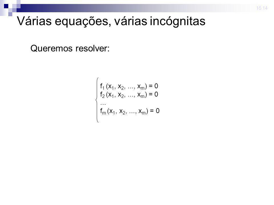 Várias equações, várias incógnitas