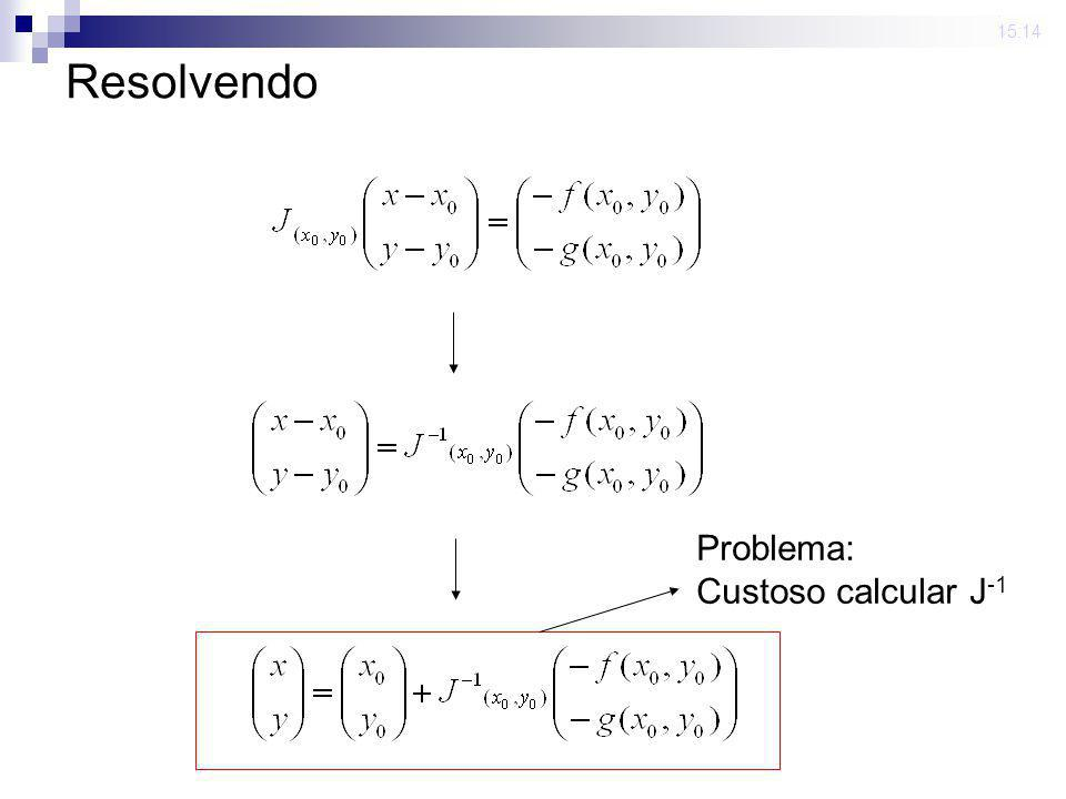 23 mar 2009 . 15:14 Resolvendo Problema: Custoso calcular J-1
