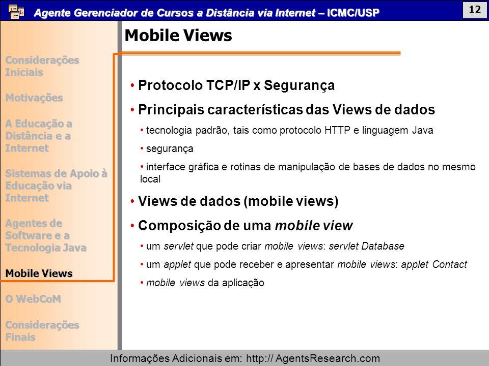 Mobile Views Protocolo TCP/IP x Segurança