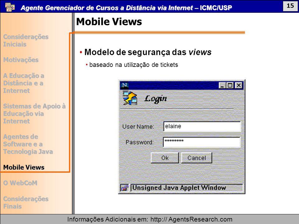 Mobile Views Modelo de segurança das views
