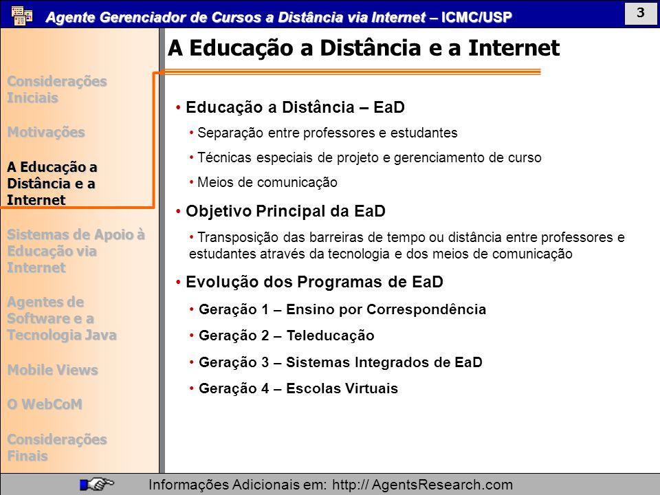 A Educação a Distância e a Internet
