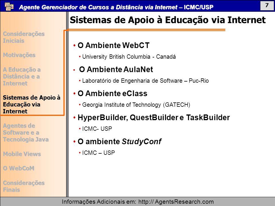 Sistemas de Apoio à Educação via Internet