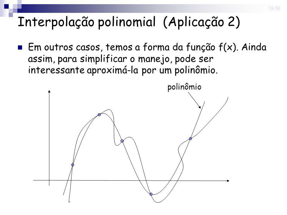 Interpolação polinomial (Aplicação 2)