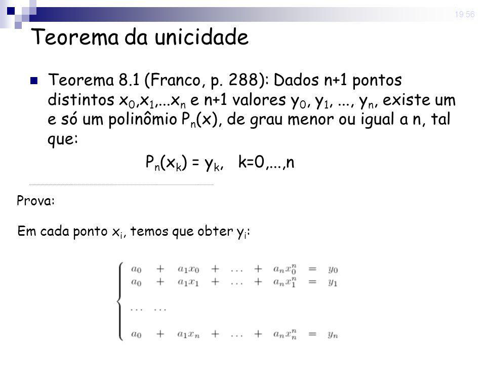 8 May 2008 . 19:56 Teorema da unicidade.