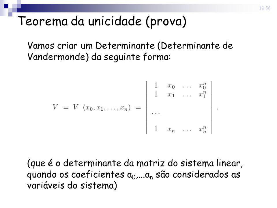 Teorema da unicidade (prova)