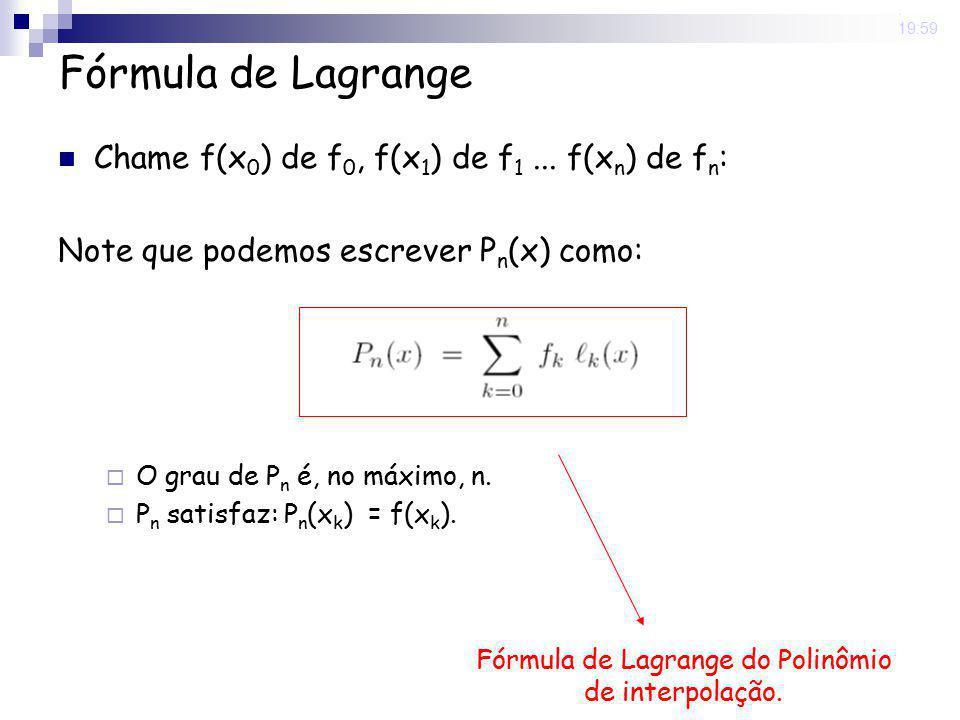 Fórmula de Lagrange do Polinômio