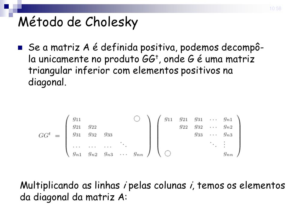 5 Nov 2008 . 10:58 Método de Cholesky.