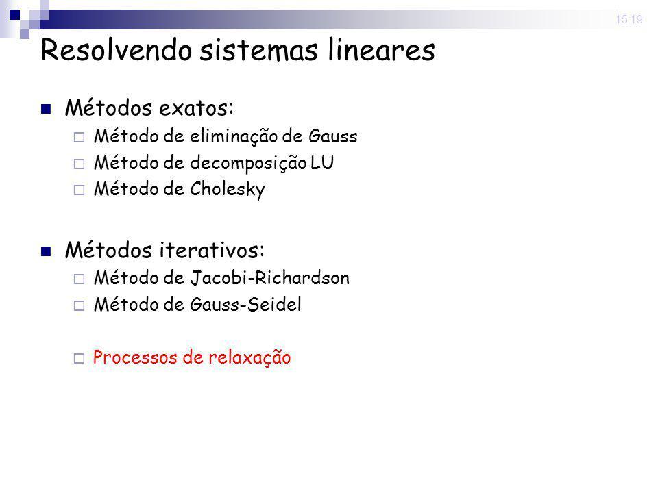 Resolvendo sistemas lineares
