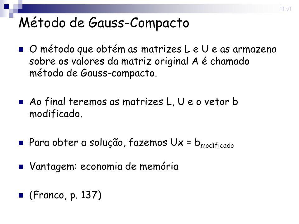 Método de Gauss-Compacto