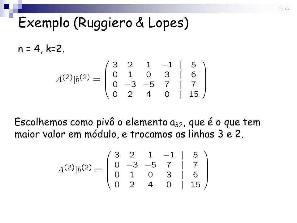 Exemplo (Ruggiero & Lopes)