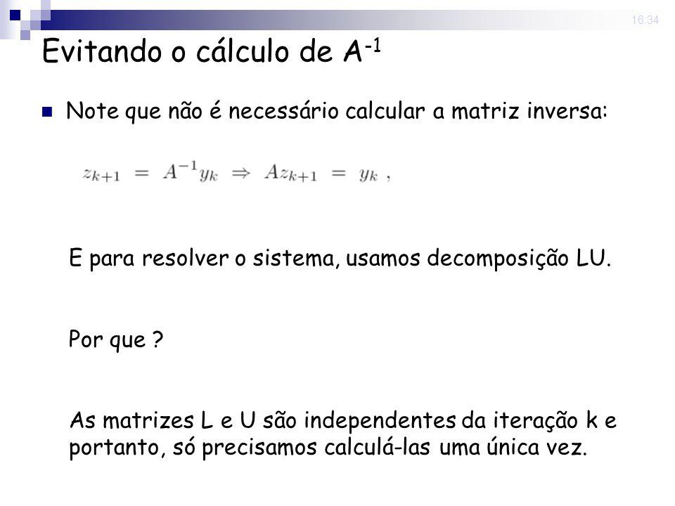 Evitando o cálculo de A-1