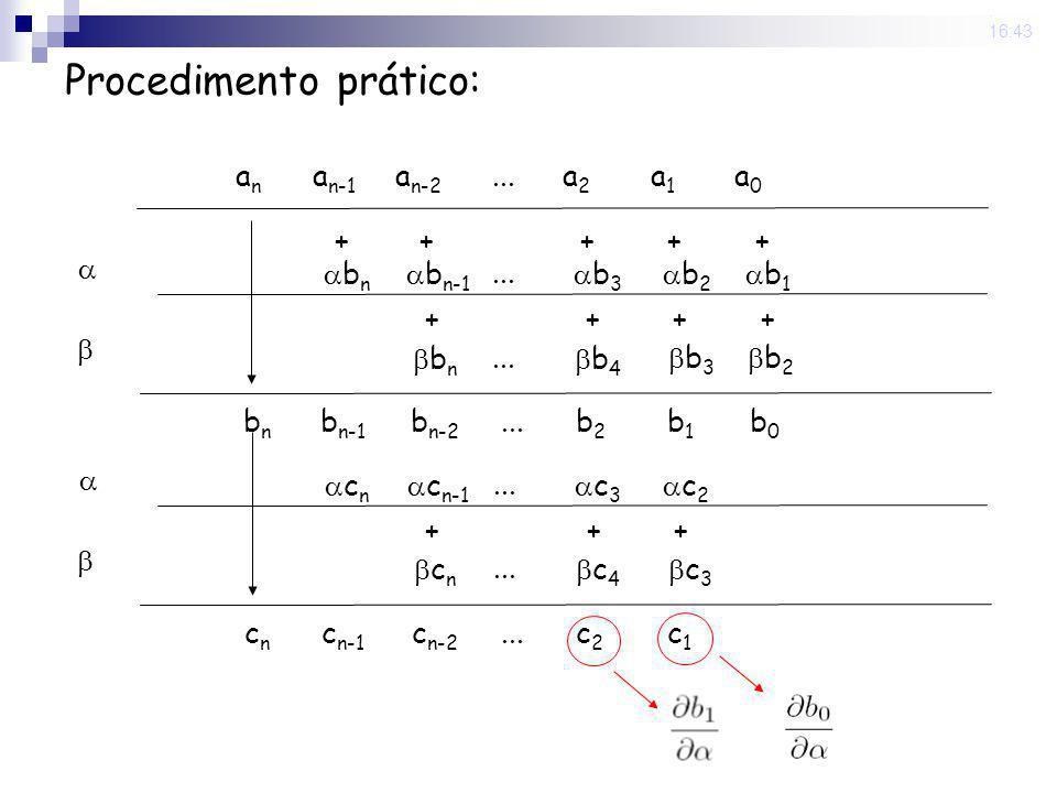 Procedimento prático: