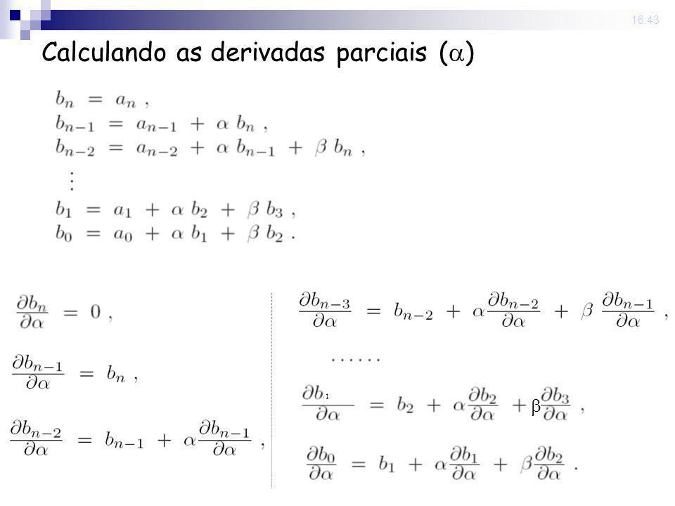 Calculando as derivadas parciais ()