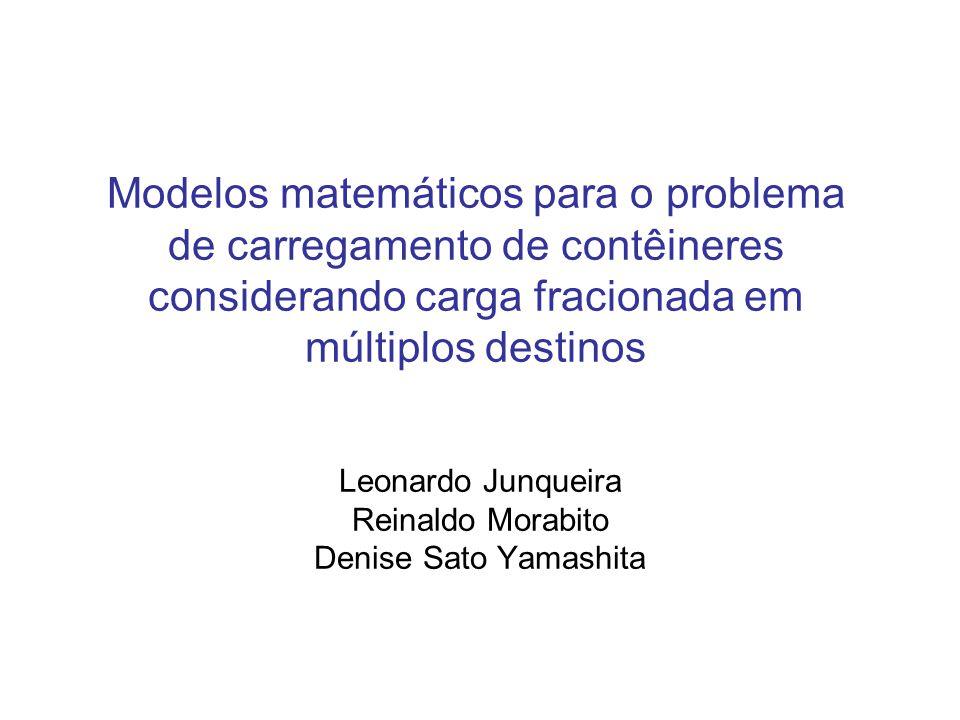 Leonardo Junqueira Reinaldo Morabito Denise Sato Yamashita