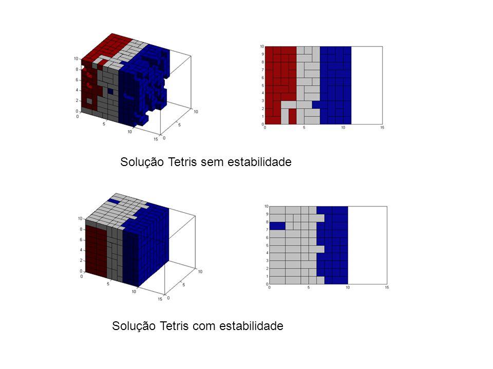 Solução Tetris sem estabilidade
