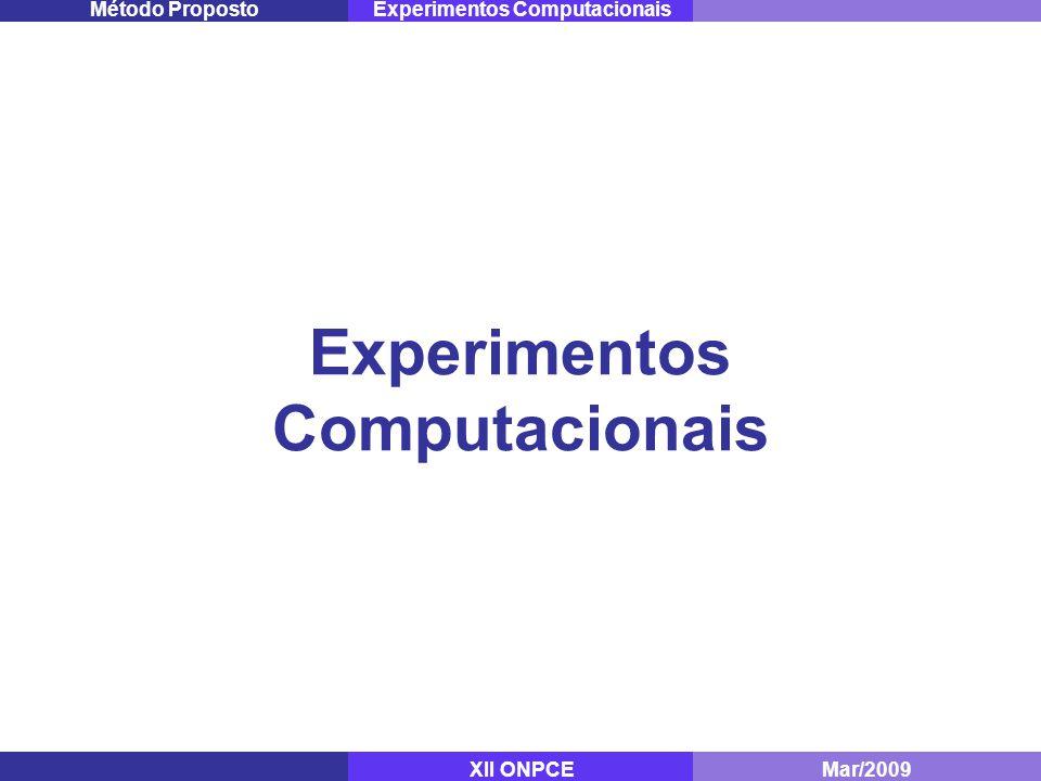Experimentos Computacionais