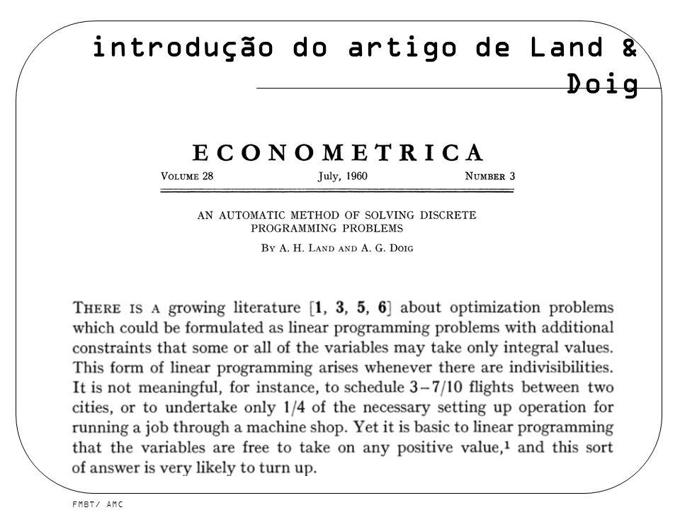 introdução do artigo de Land & Doig