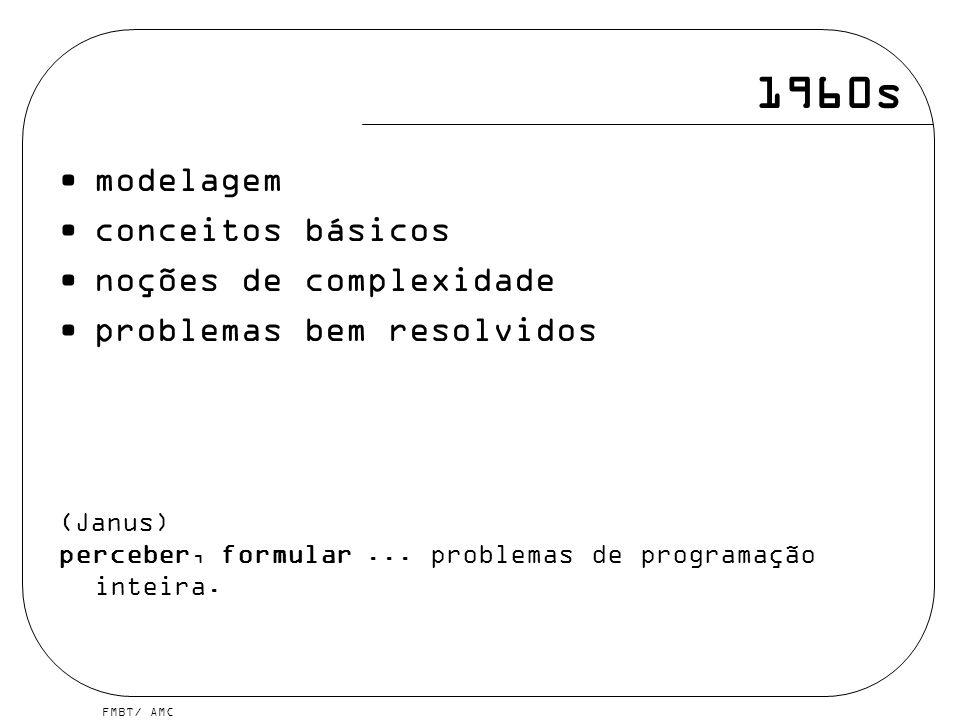 1960s modelagem conceitos básicos noções de complexidade