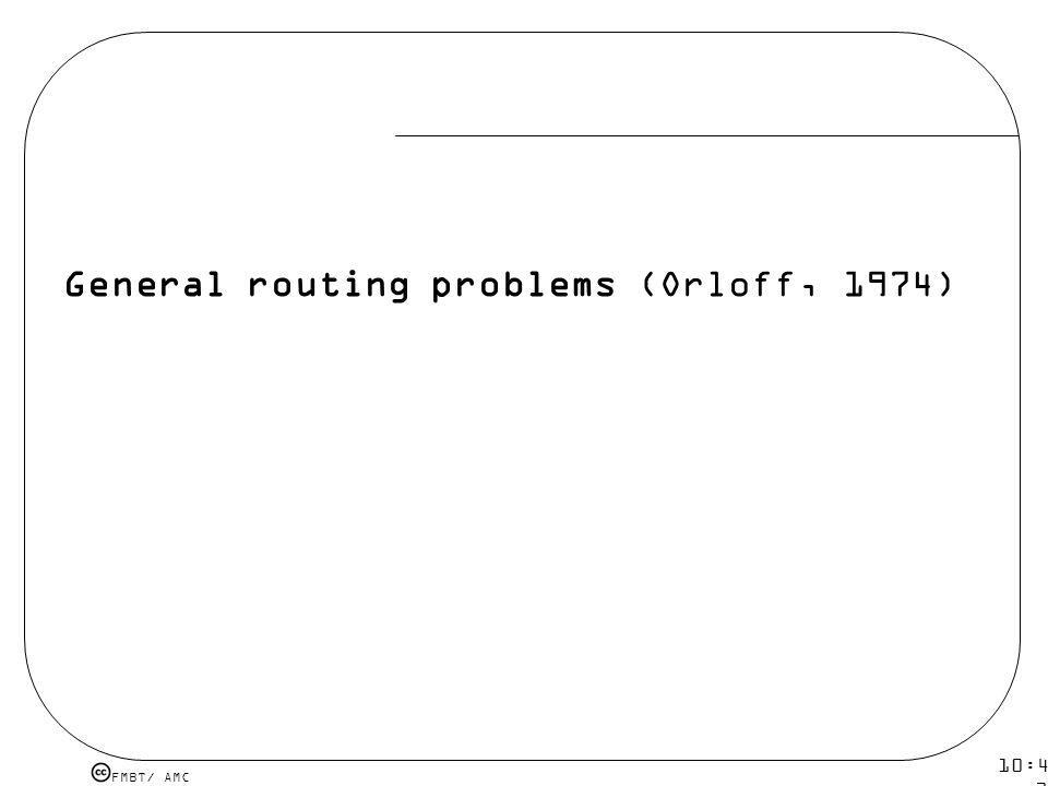 General routing problems (Orloff, 1974)