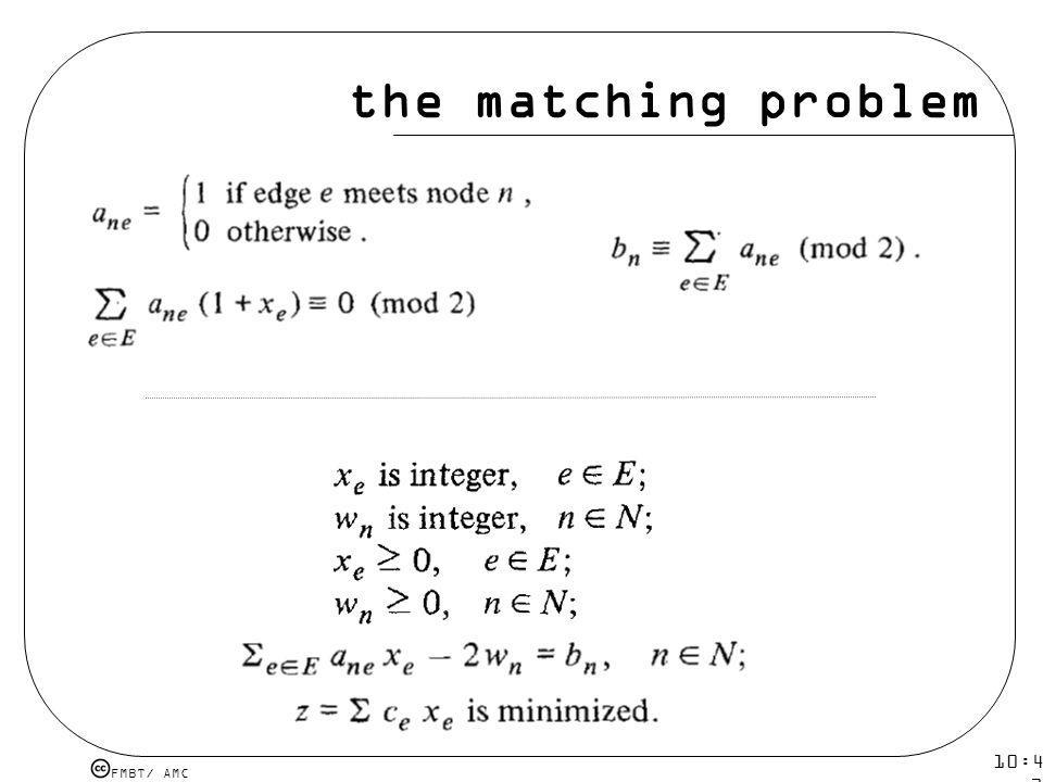the matching problem 10:43 19 mar 2009.