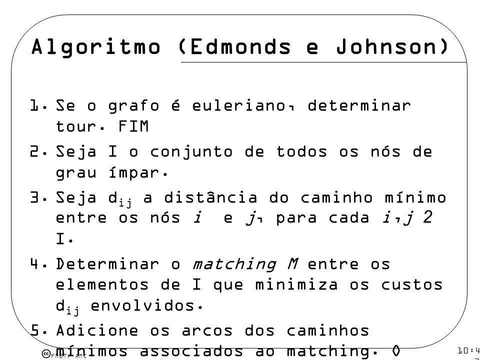 Algoritmo (Edmonds e Johnson)