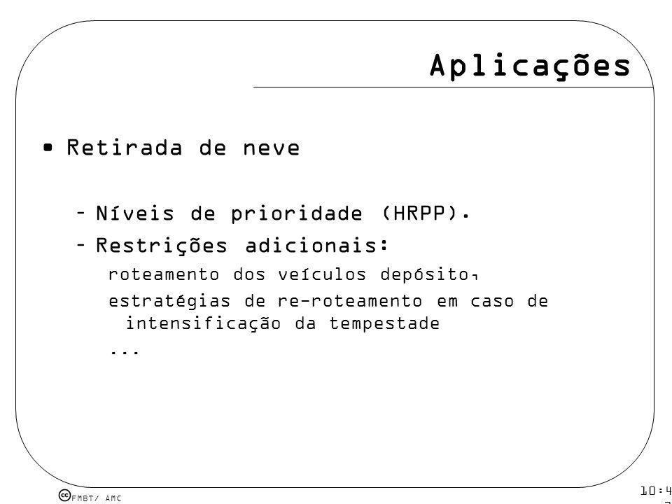 Aplicações Retirada de neve Níveis de prioridade (HRPP).