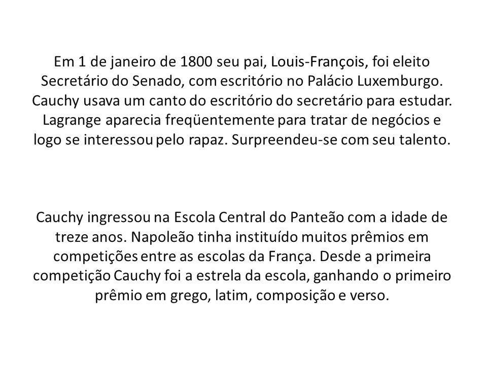 Em 1 de janeiro de 1800 seu pai, Louis-François, foi eleito Secretário do Senado, com escritório no Palácio Luxemburgo.