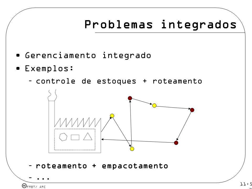 Problemas integrados Gerenciamento integrado Exemplos: