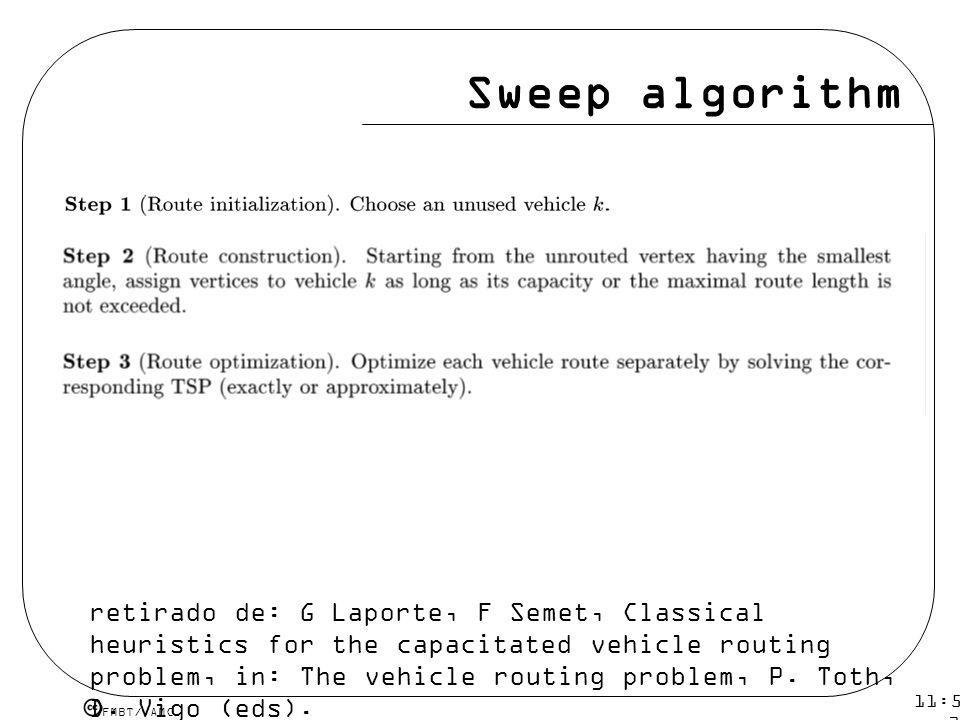 Sweep algorithm