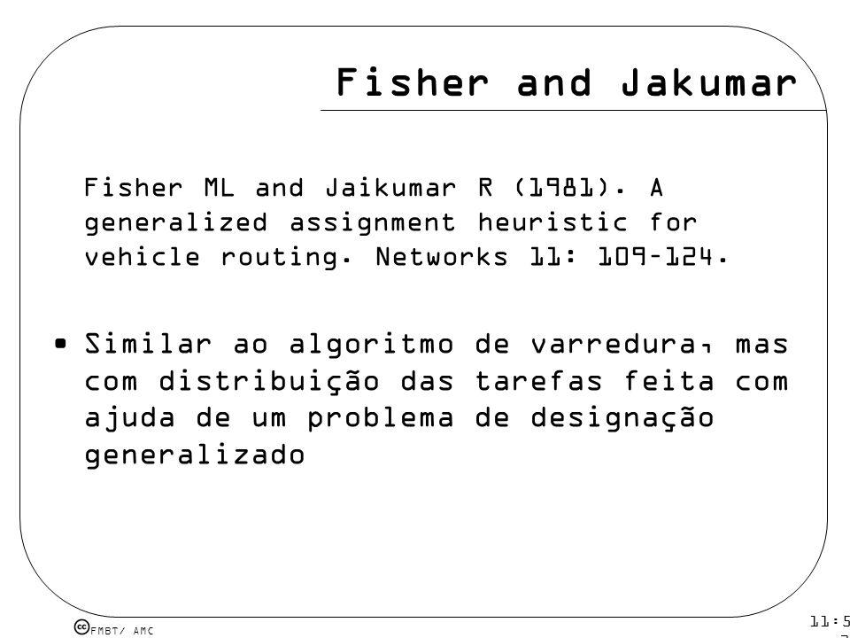 Fisher and Jakumar Fisher ML and Jaikumar R (1981). A generalized assignment heuristic for vehicle routing. Networks 11: 109–124.