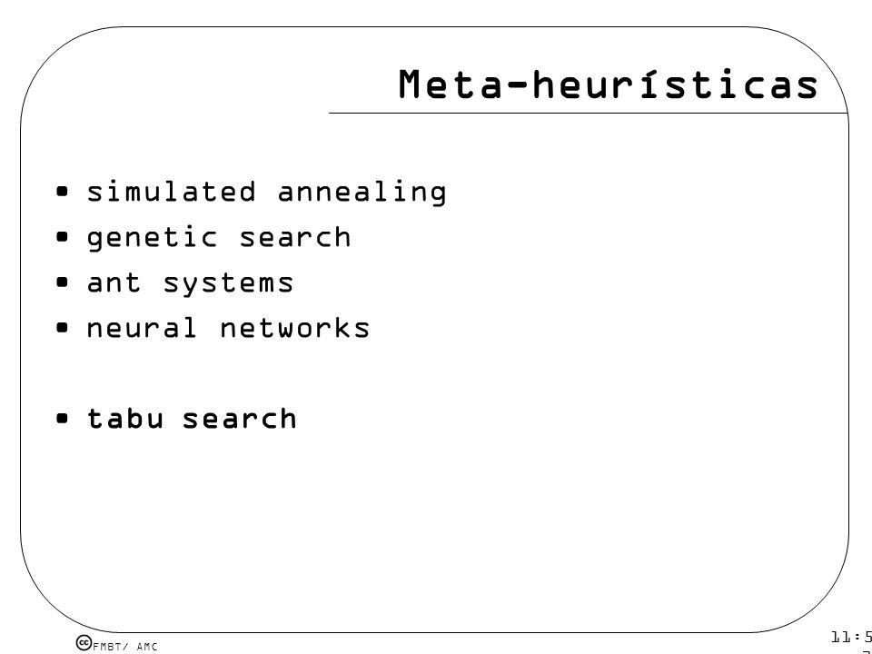Meta-heurísticas simulated annealing genetic search ant systems