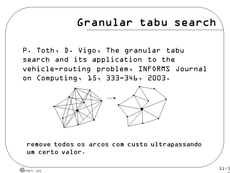 Granular tabu search