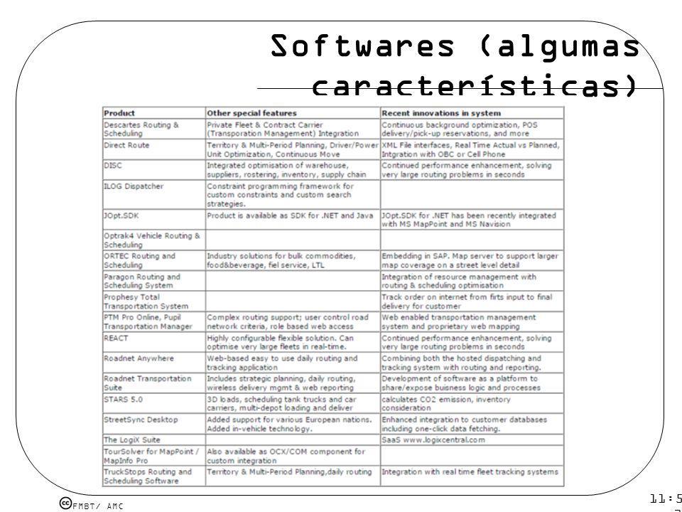 Softwares (algumas características)