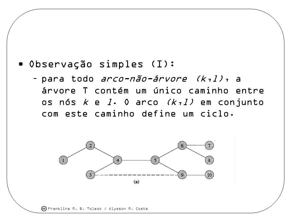 Observação simples (I):