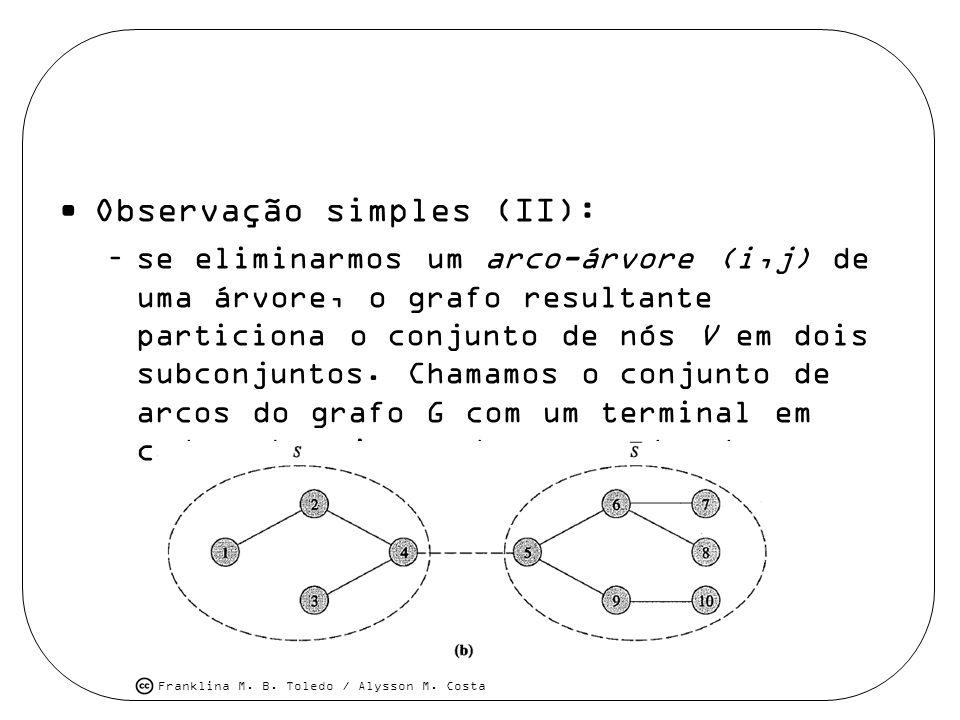 Observação simples (II):