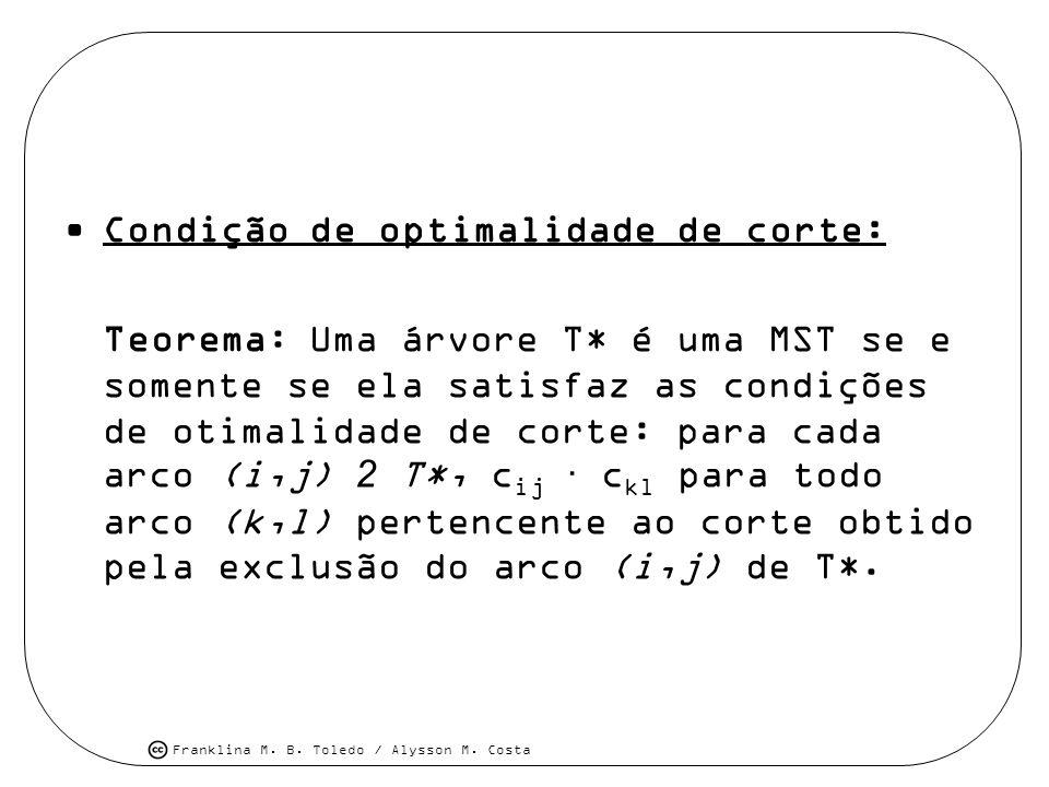 Condição de optimalidade de corte: