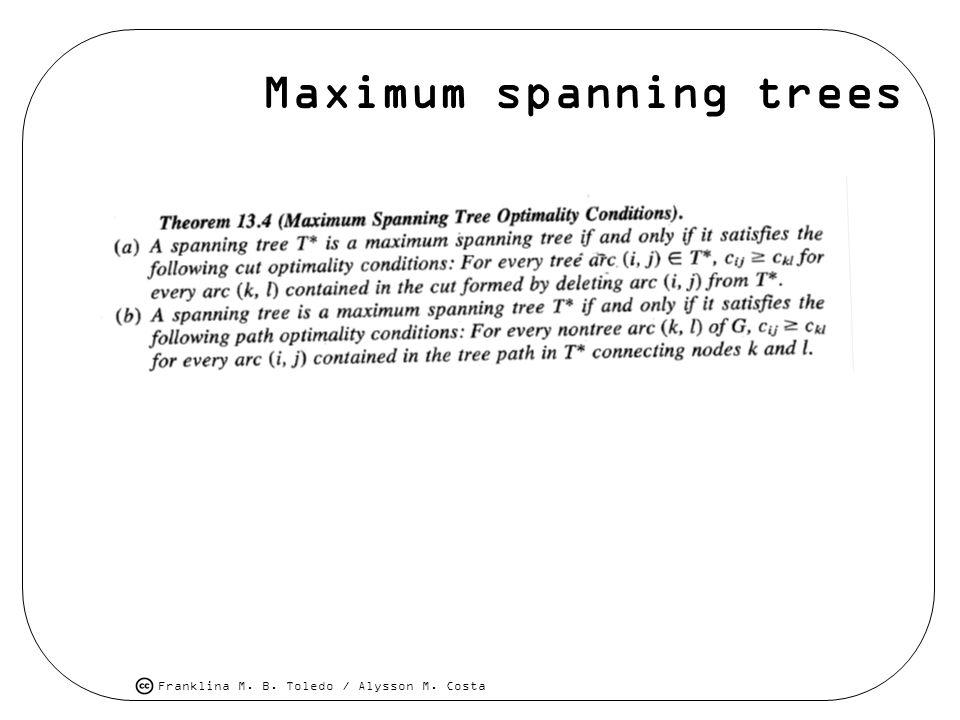 Maximum spanning trees