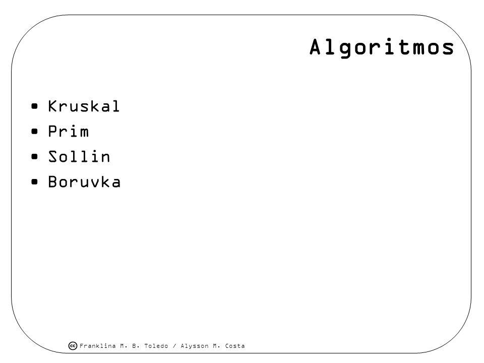 Algoritmos Kruskal Prim Sollin Boruvka