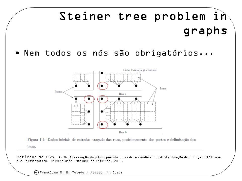 Steiner tree problem in graphs
