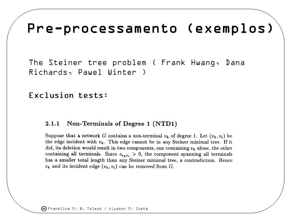 Pre-processamento (exemplos)